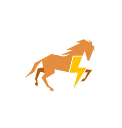 horse power botl symbol logo vector image