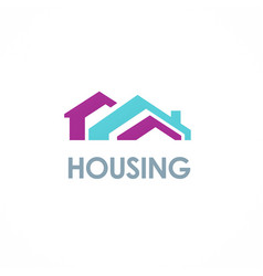house roof colored logo vector image