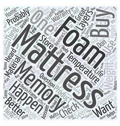 How to buy a memory foam mattress word cloud vector