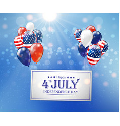 independence day united states vector image