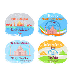 india independence day set vector image