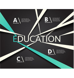 infographic education connection line vector image