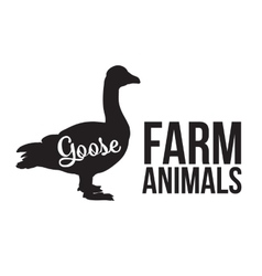 Isolated farm goose on a yellow background vector image