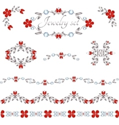 Jewelry decoration elements vector image