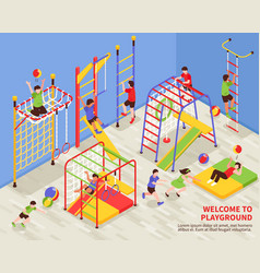 Kids sports playground background vector
