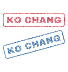 Ko chang textile stamps vector