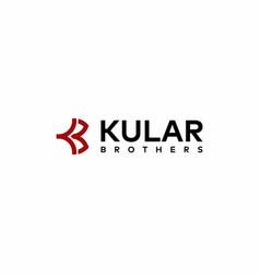 Letter kb logo vector
