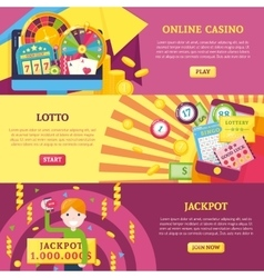 Lottery Horizontal Banners Set vector image