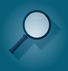 Magnifying Glass flat icon with long shadow vector image