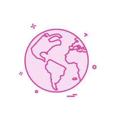 map globe icon design vector image