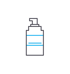 Means disinfection thin line stroke icon vector