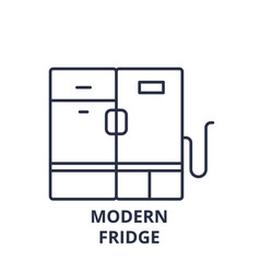 modern fridge line icon concept modern fridge vector image