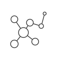 molecule related thin line icon vector image