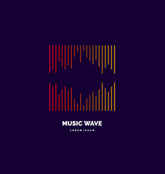 Music wave in form vector