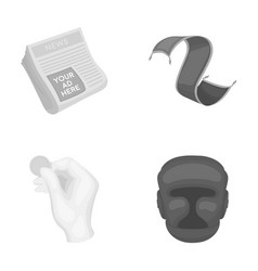 News finance and other monochrome icon in cartoon vector