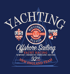 offshore sailing regatta yachting race vector image