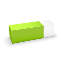 Package white and green box design vector image
