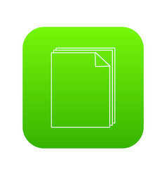paper icon green vector image