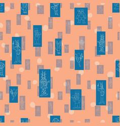 Peach polka dots anthropomorphic characters vector
