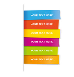 post note stickers on white background colorful vector image