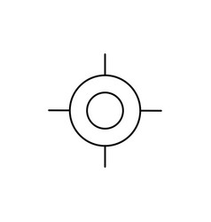 Precision icon vector