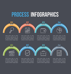 process infographics vector image