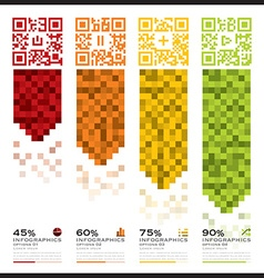 QR Code Business Infographics Banner And vector