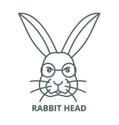 rabbit head line icon linear concept vector image