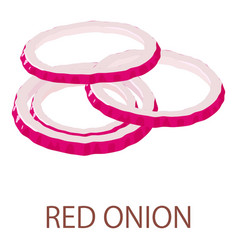 Red onion icon isometric style vector