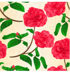 seamless texture camellia japonica flowers vector image