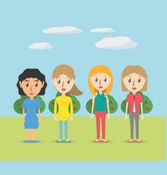 set avatars women of different diversity over vector image