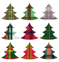 Set of Christmas Trees using the Celtic ornament vector