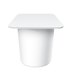 slim white blank plastic container vector image
