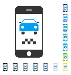 Smartphone taxi car icon vector