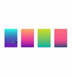 Soft color gradient modern light background set vector