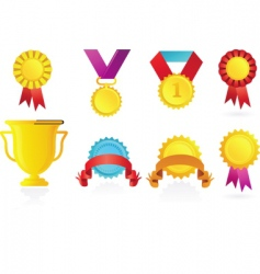sport awards icons vector image