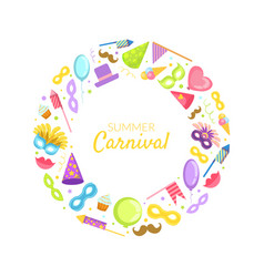 summer carnival frame wih place for text vector image