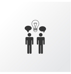 Team brainstorming icon symbol premium quality vector
