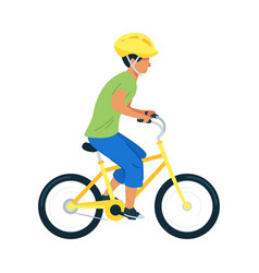 teenager riding bicycle flat vector image