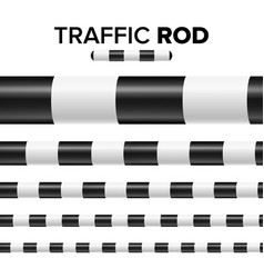 traffic police stick baton set isolated on white vector image