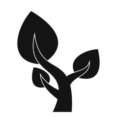 Tree saving plants simple icon vector