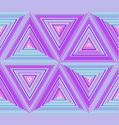 Triangular dimensions abstract geometric vector