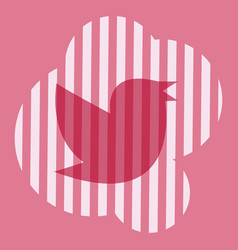 twitter bird on a background vector image