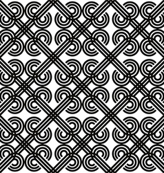 Vintage seamless pattern black and white vector