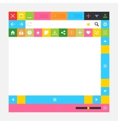 Web browser window with additional buttons vector