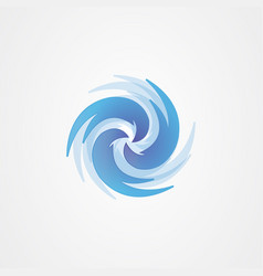 Whirlpool icon logo design vector