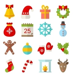 Christmas and Winter Traditional Symbols vector image vector image