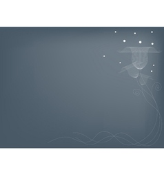 Delicate Flowers on Gray Backgroun vector image vector image
