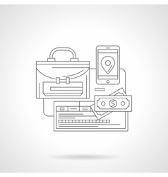 Detailed line icon for business tourism vector image