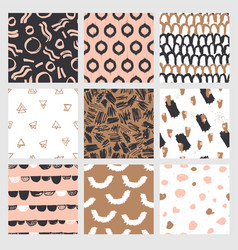 fashionable seamless pattern design collection vector image